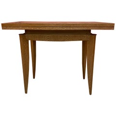Art Deco Oak Console or Table and Table, circa 1930