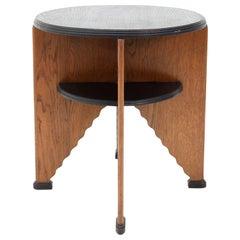 Art Deco Oak Dutch Side Table