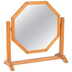Art Deco Oak Framed Easel Mirror