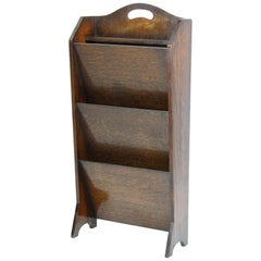 Art Deco Oak Newspaper Stand Magazine Stand English, circa 1920s
