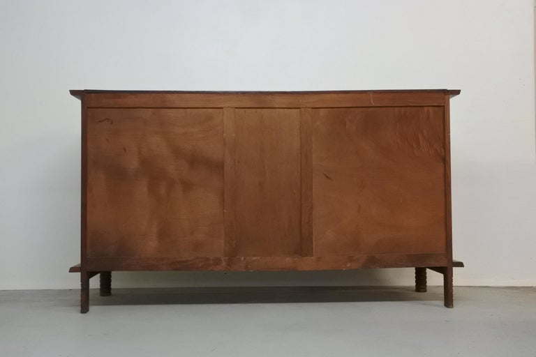 Art Deco Oak Sideboard by Charles Dudouyt, France, 1930s For Sale 11