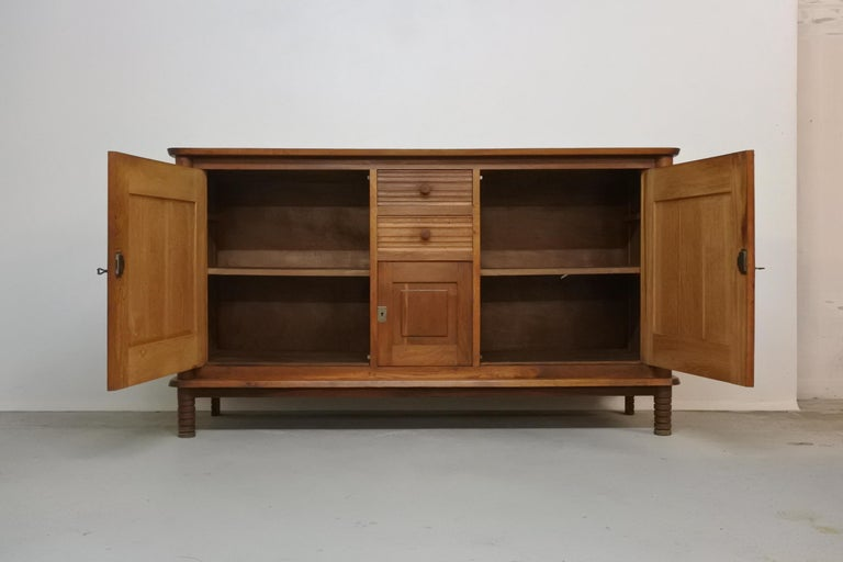 French Art Deco Oak Sideboard by Charles Dudouyt, France, 1930s For Sale