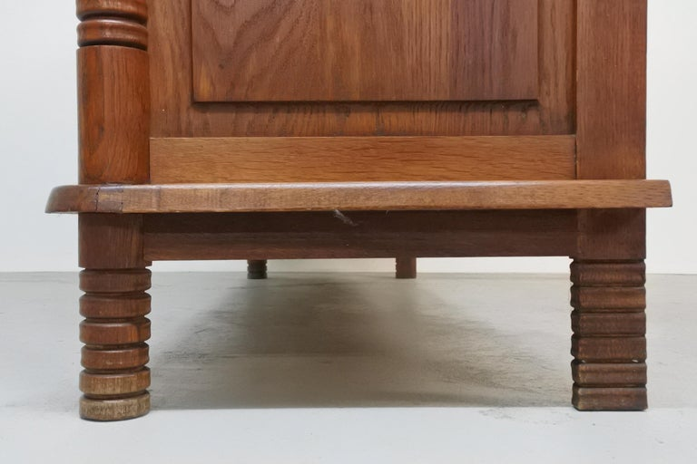 Art Deco Oak Sideboard by Charles Dudouyt, France, 1930s For Sale 4