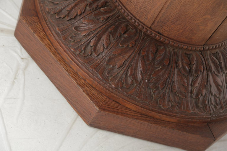 Mid-20th Century Art Deco Oakwood Round Dining Table 'Extensions Possible' For Sale