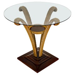 Grosfeld House Occasional or Center Table with Glass Top