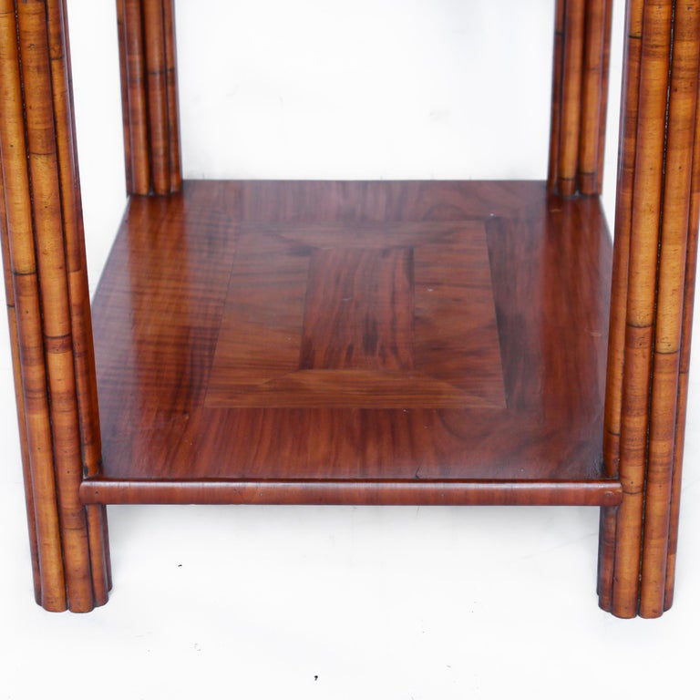 Art Deco Occasional Table Walnut with Sliding Tray and Integral Drawer 1930's In Good Condition For Sale In Forest Row, East Sussex