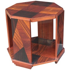 Art Deco Octagonal Side Table