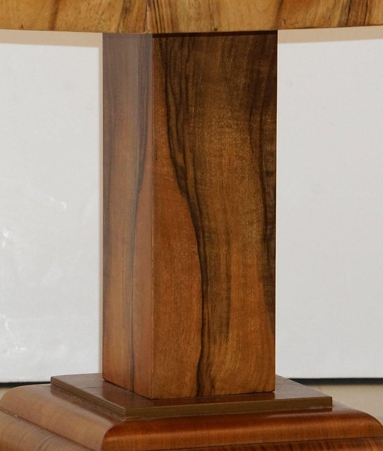 Art Deco Octagonal Table with Burr Walnut Veneer from England For Sale 11