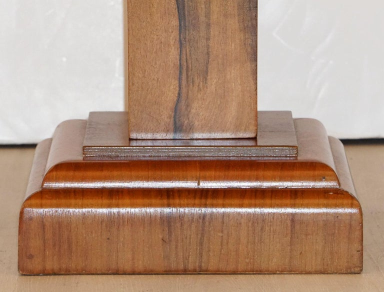 Art Deco Octagonal Table with Burr Walnut Veneer from England For Sale 14
