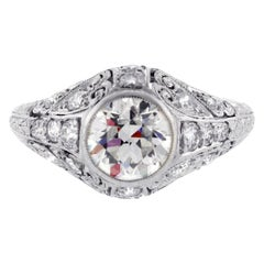 Art Deco Old Europe Diamond Engagement Ring