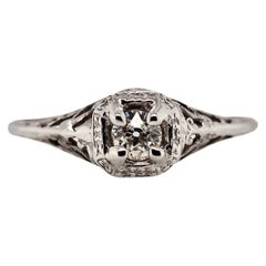 Art Deco Old Mine Cut Diamond Ring, circa 1920s
