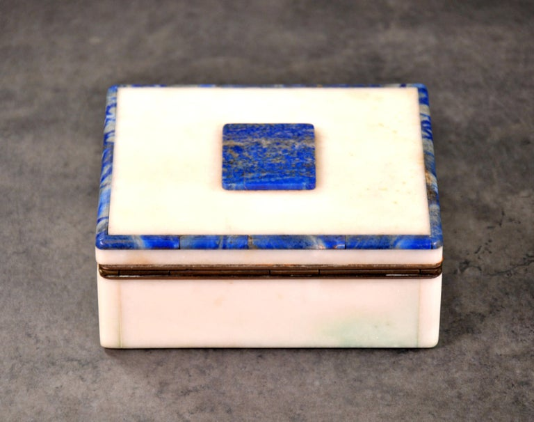 Art Deco Onyx and Lapis Box For Sale 4