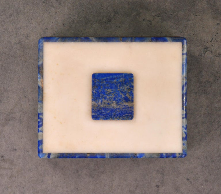 Art Deco Onyx and Lapis Box For Sale 5