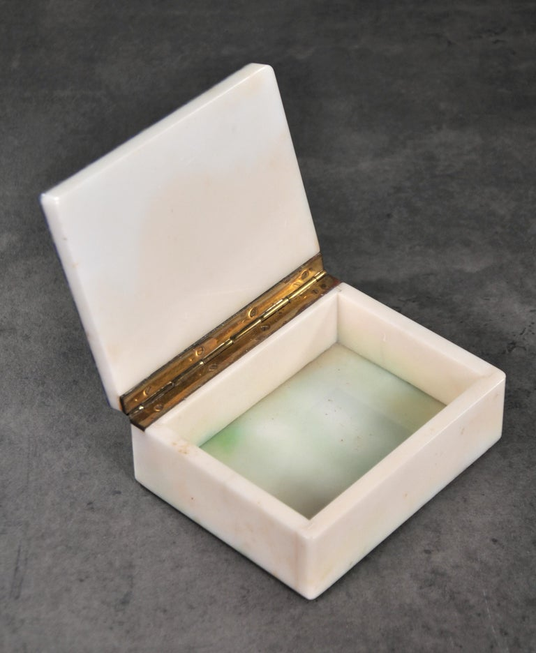 Art Deco Onyx and Lapis Box For Sale 6