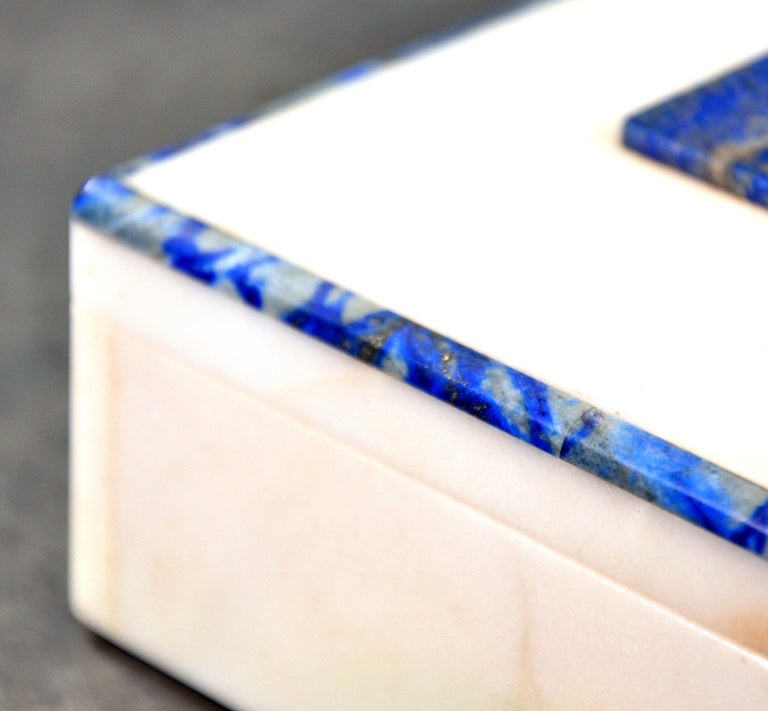 Art Deco Onyx and Lapis Box In Good Condition For Sale In Miami, FL