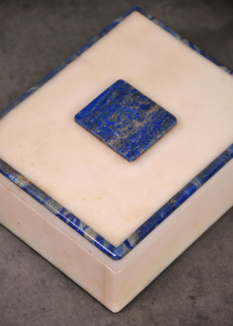 Art Deco Onyx and Lapis Box For Sale 1