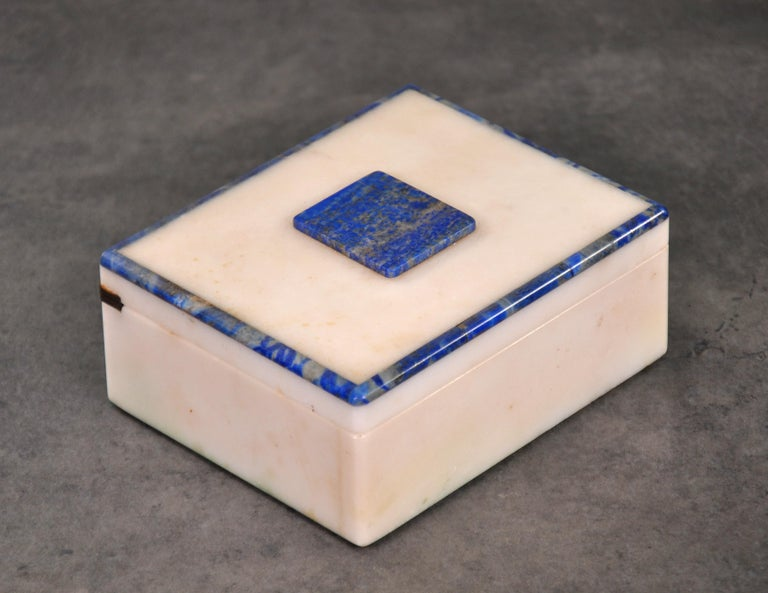 Art Deco Onyx and Lapis Box For Sale 2
