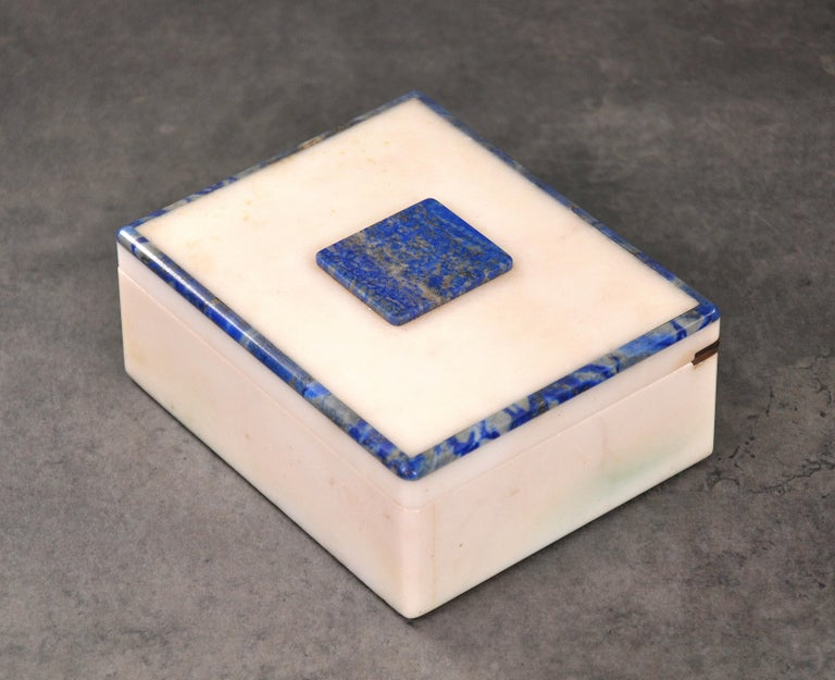 Art Deco Onyx and Lapis Box For Sale 3