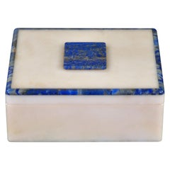 Art Deco Onyx and Lapis Box