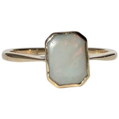 Art Deco Opal and 18 Carat Gold Ring