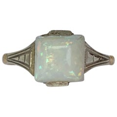 Art Deco Opal and 9 Carat Gold Ring