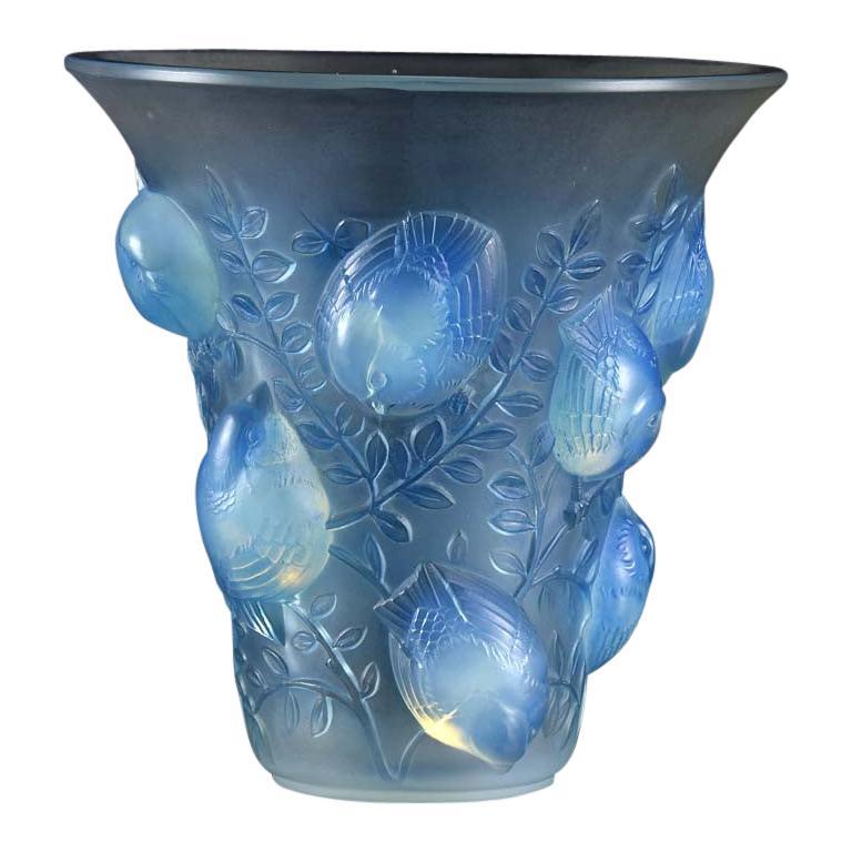 Art Deco Opalescent Glass Vase Entitled 'St Francois' by René Lalique