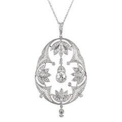 Art Deco Open Diamond Pendant