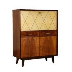 Art Deco Original Italian Bar Cabinet in Buxus and Wood, 1930s