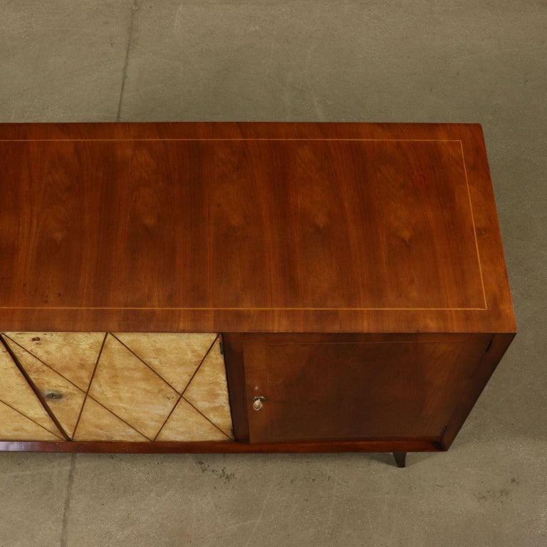 Art Deco Original Italian Cabinet in Buxus and Wood, 1930s 2