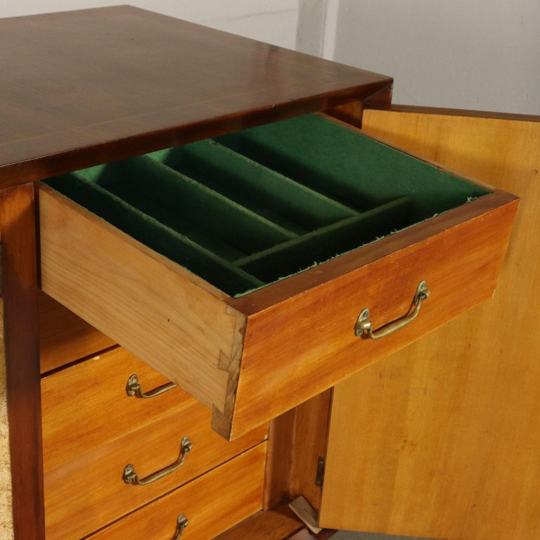 Art Deco Original Italian Cabinet in Buxus and Wood, 1930s 5