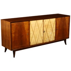 Art Deco Original Italian Cabinet in Buxus and Wood, 1930s
