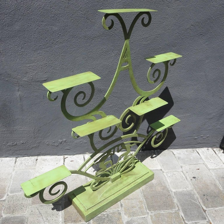 American Art Deco Painted Iron Display Unit For Sale