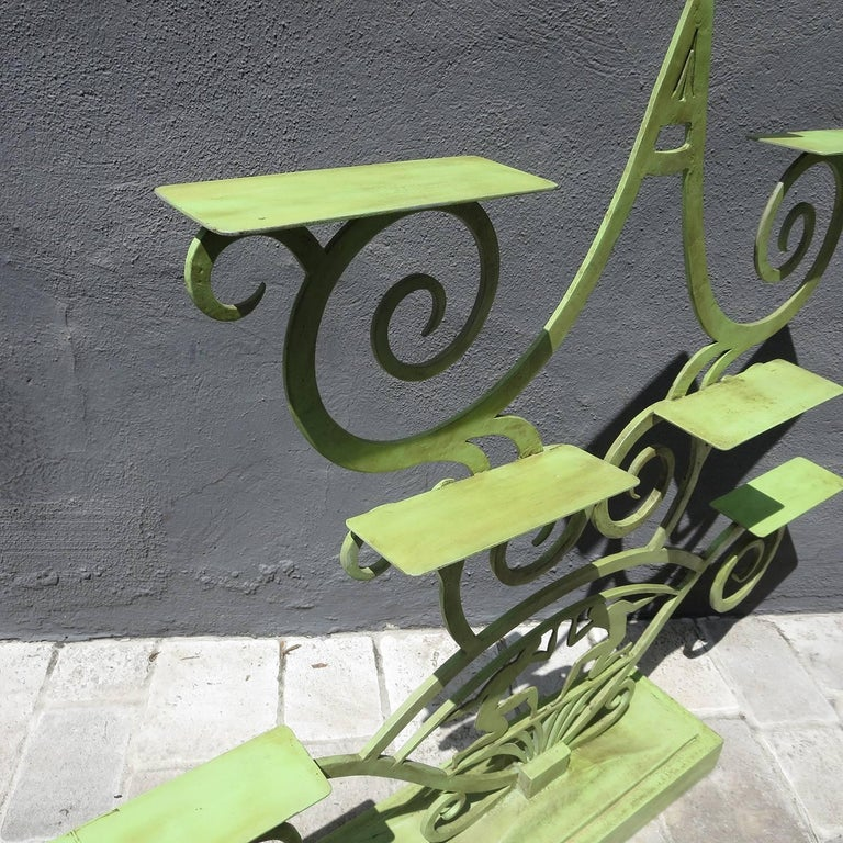 Art Deco Painted Iron Display Unit In Excellent Condition For Sale In Los Angeles, CA