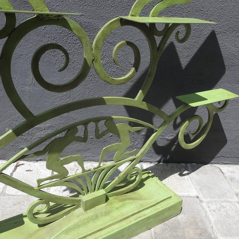 Mid-20th Century Art Deco Painted Iron Display Unit For Sale