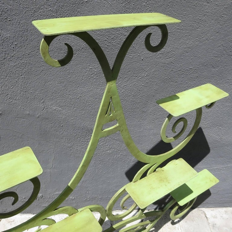 Art Deco Painted Iron Display Unit For Sale 1
