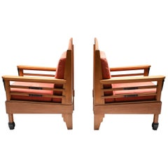 Art Deco Pair of Club Chairs, Europe, 1960s