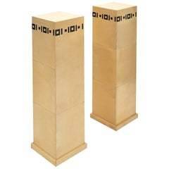 Art Deco Pair of French Pedestals