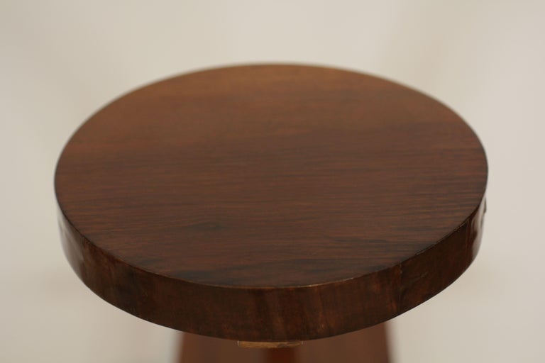 Pair of Art Deco Side Tables / Flower Stands, Walnut Veneer, France, circa 1925 For Sale 3