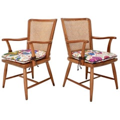 Art Deco Pair of Vintage Ash Armchairs by Josef Frank Vienna, circa 1928