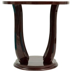 Art Deco Palisander Round Top Occasional Table