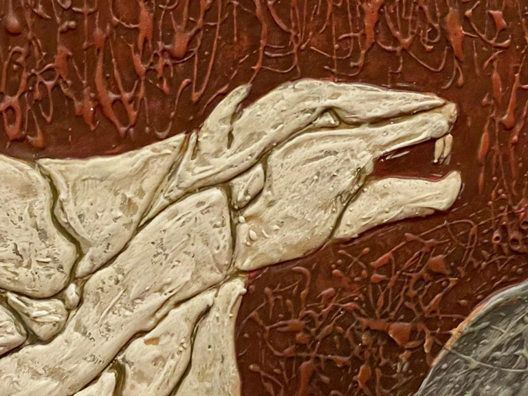 Art Deco Panther Painting, French, 1920s For Sale 3