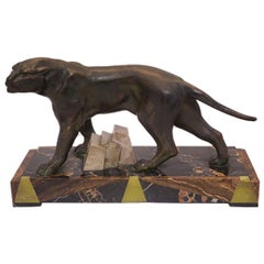 Art Deco Panther Sculpture