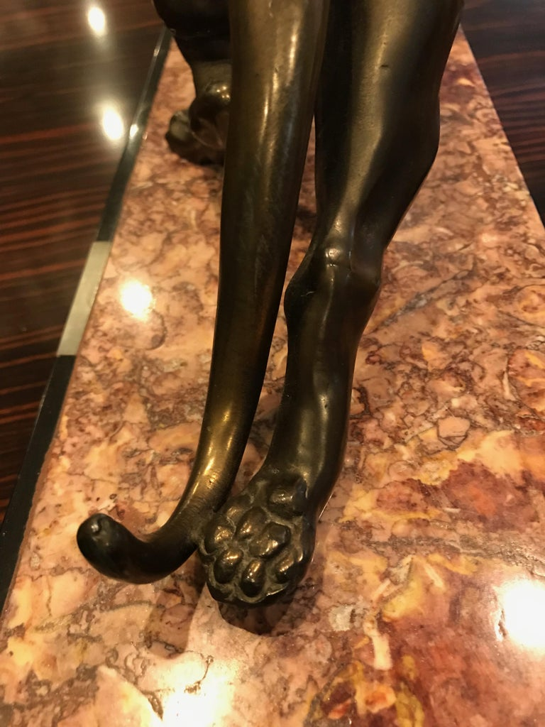 Art Deco Panther Sculpture on Marble Base For Sale 8