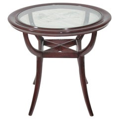 Art Deco Paolo Buffa Design Round Coffee Table, 1940s