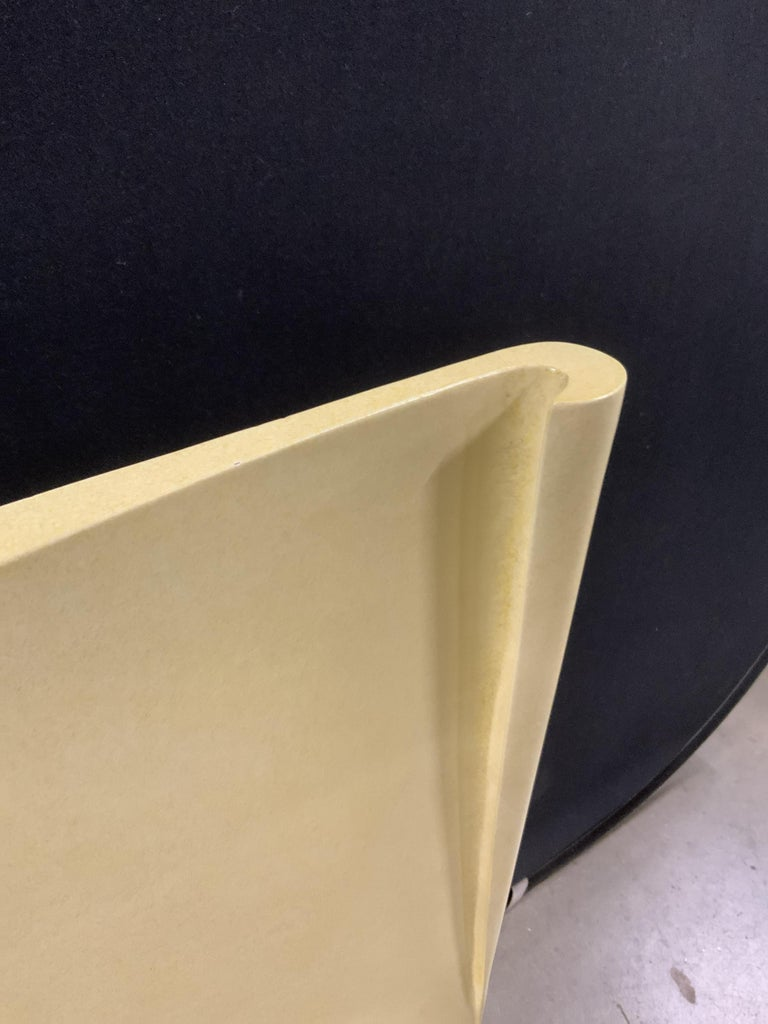 American Art Deco Parchment Lacquered Queen Headboard For Sale