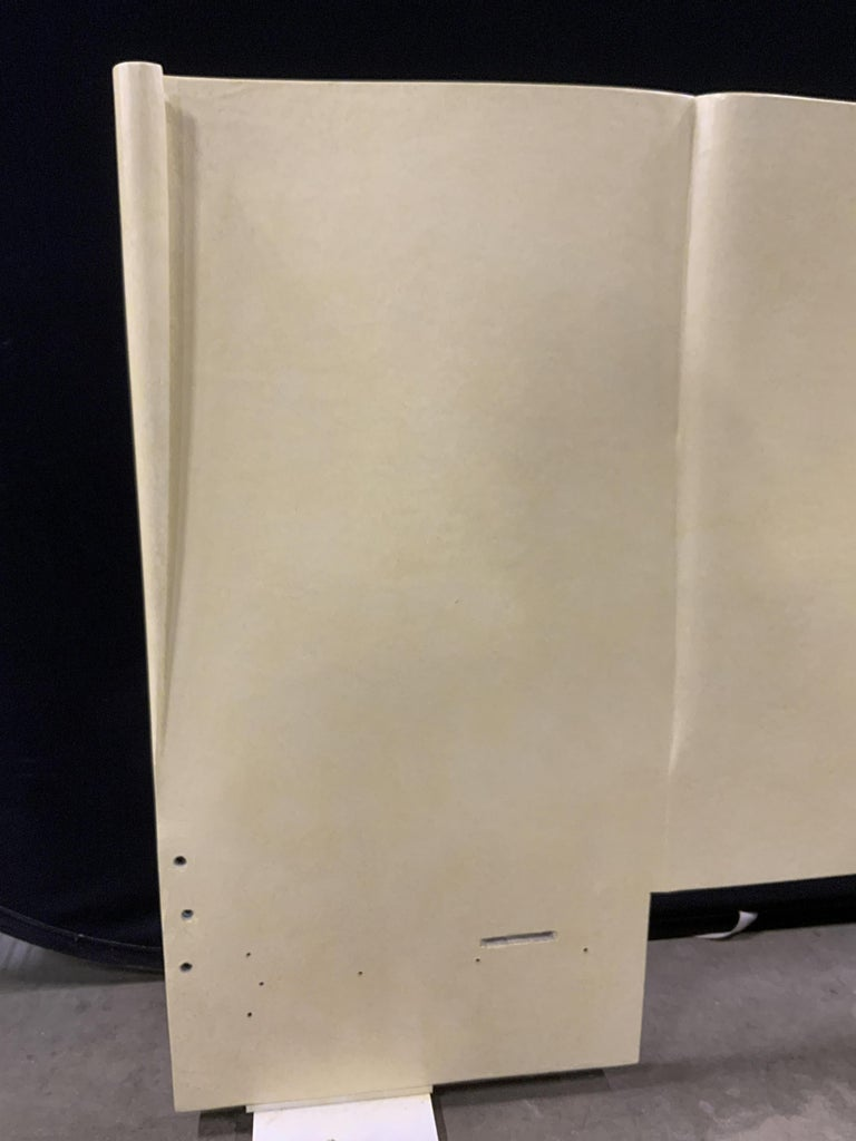 Art Deco Parchment Lacquered Queen Headboard In Good Condition For Sale In Hingham, MA