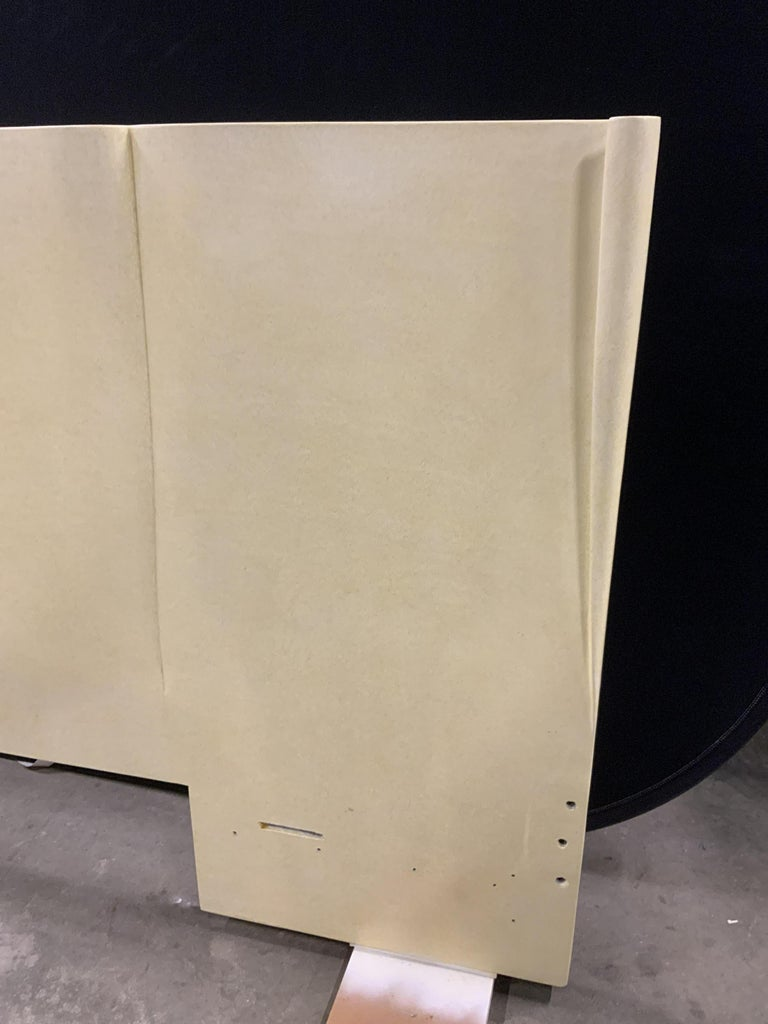 Mid-20th Century Art Deco Parchment Lacquered Queen Headboard For Sale