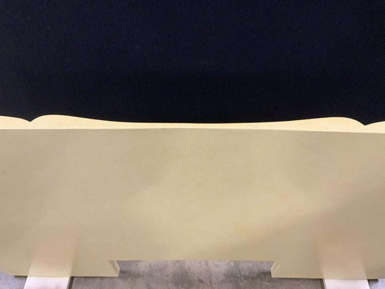 Art Deco Parchment Lacquered Queen Headboard For Sale 1