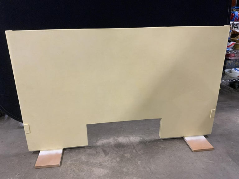 Art Deco Parchment Lacquered Queen Headboard For Sale 3