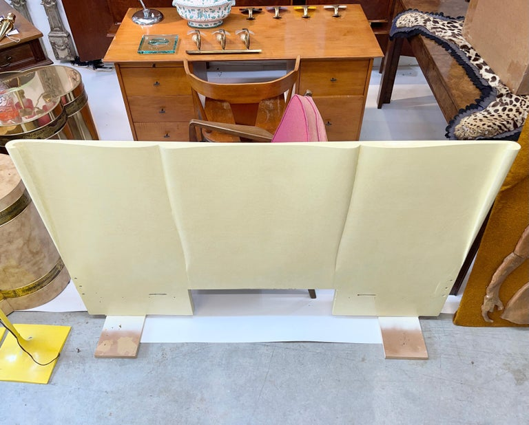 Art Deco Parchment Lacquered Queen Headboard For Sale 6